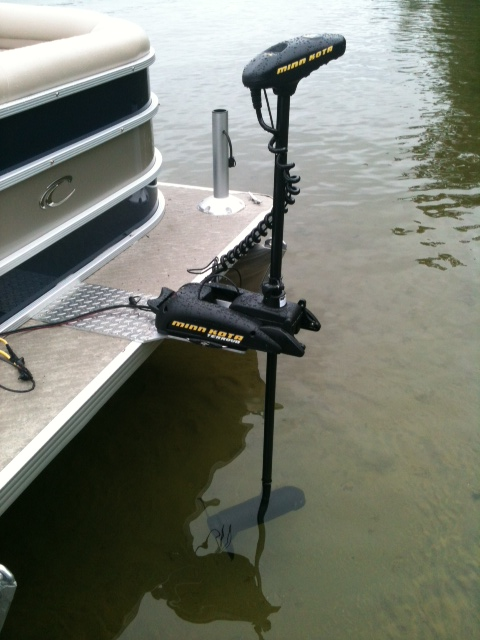 pontoon boat trolling motor install bing images