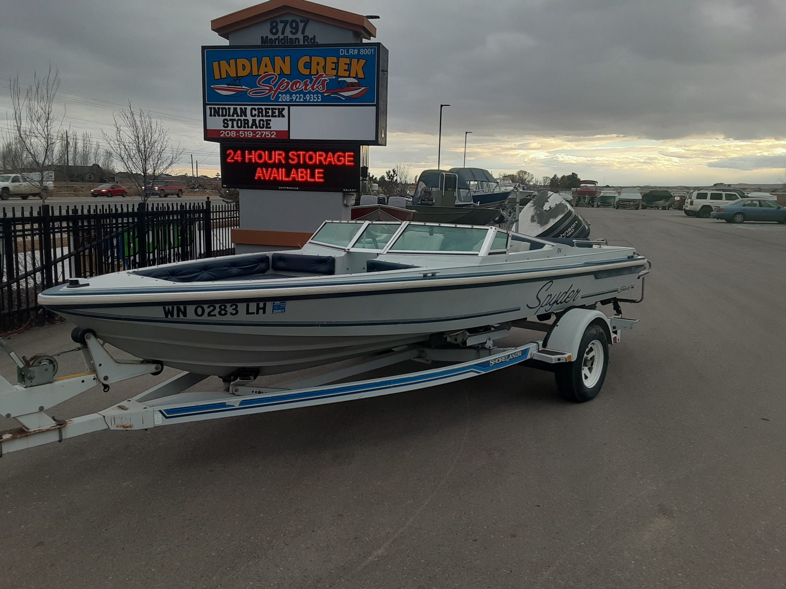 1988 Seaswirl Spyder 174 boat and trailer only